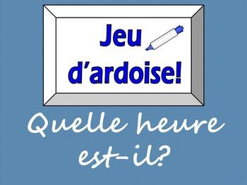 French Game - Jeu d'ardoise - Quelle heure est-il?