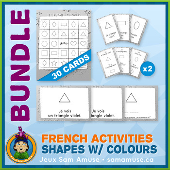 French Games & Activities - Colored Shapes - Abstract