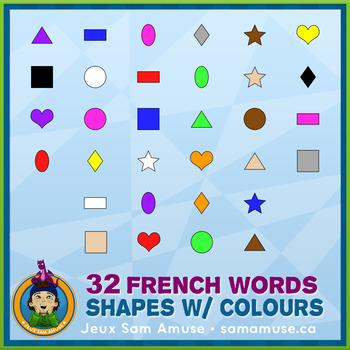 French Games & Activities - Colored Shapes - Circus
