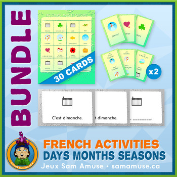 French Games & Activities - Days Months Seasons - Abstract