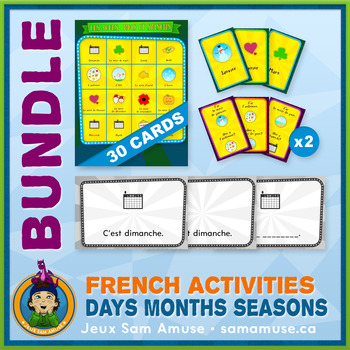 French Games & Activities - Days Months Seasons - Circus