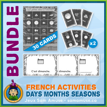 French Games & Activities - Days Months Seasons - Jungle