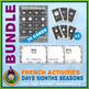 French Days Months Seasons • Booklets, Bingo & Card Games Bundle • Jungle