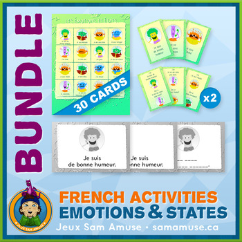 French Games & Activities - Feelings and States of mind - Abstract