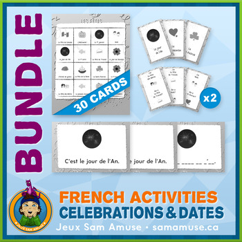 French Games & Activities - Holidays - Abstract