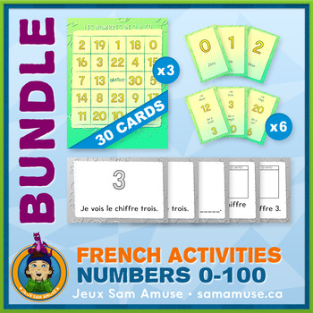 French Games & Activities - Numbers 0 to 100 - Abstract