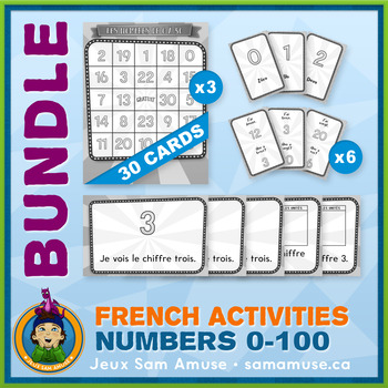 French Games & Activities - Numbers 0 to 100 - Circus