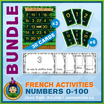French Games & Activities - Numbers 0 to 100 - Jungle