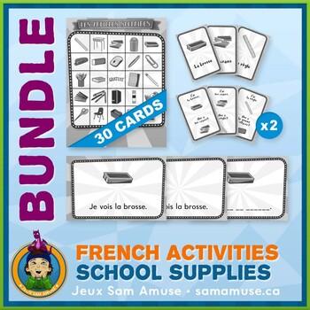 French School Supplies • Booklets, Bingo & Card Games Bundle • Circus Theme