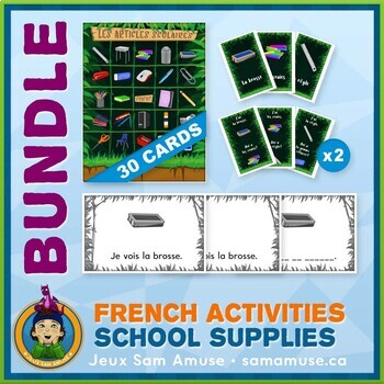French Games & Activities - School Supplies - Jungle
