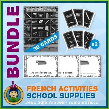 French Games & Activities - School Supplies - Jungle