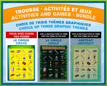French Games & Activities - Time Clock - Circus