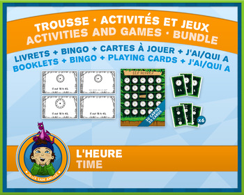 French Games & Activities - Time Clock - Jungle