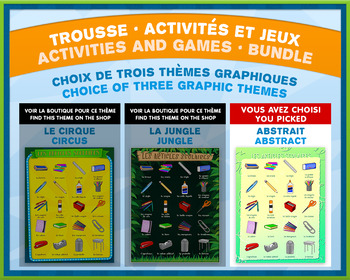 French Games & Activities - Time in Words - Abstract