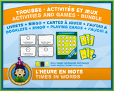French Games & Activities - Time in Words - Circus