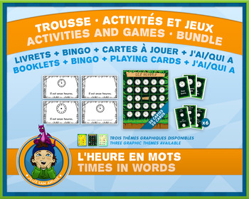 French Games & Activities - Time in Words - Jungle