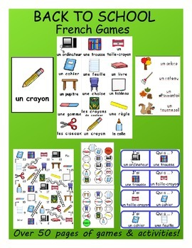 Back to School / La rentrée FRENCH Games
