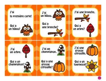French Game *FREEBIE* ~ Voyageur de l'automne J'ai...Qui a?