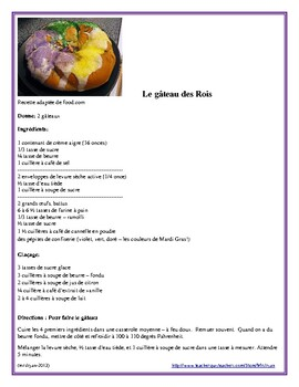 French - Gâteau des Rois - Kings Cake - recipe