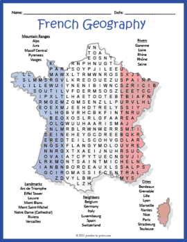 USA 50 States - Word Search - Geography FUN! by Rich Carlson's TPT ...