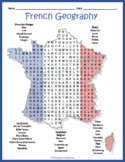 French Geography Word Search