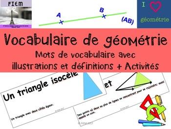 Géométrie: Vocabulaire, Images, Définitions, Activités, Gr 3-6