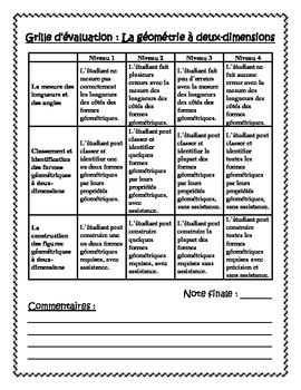 French Geometry Project - Build Your Own Home (La géométrie - Grades 2-3)