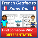 French Getting to Know You (Find Someone Who)
