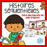 French Gingerbread Sequencing/ Histoires séquentielles Biscuits de pain d'épices