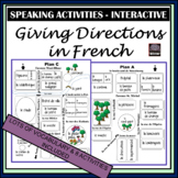 French Giving Directions – speaking activity - vocabulary