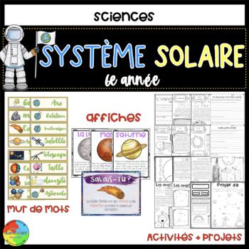 French Gr 6 Solar System - système solaire 6e année