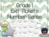 1st Grade Math Exit Tickets/Task Cards {French}