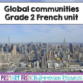 French Grade 2 Global Communities - word wall words and worksheets