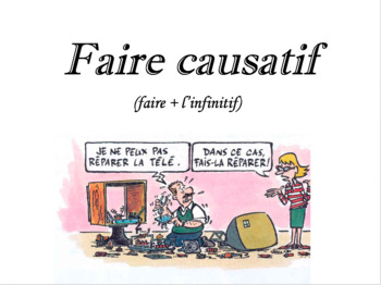 French Grammar: Causative Faire (Faire causatif) - Notes,Exercise, Oral Practice
