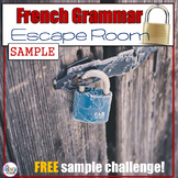 French Grammar Escape Room - SAMPLE