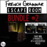 French Grammar Escape Rooms BUNDLE 2