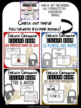 French Grammar Escape Rooms BUNDLE
