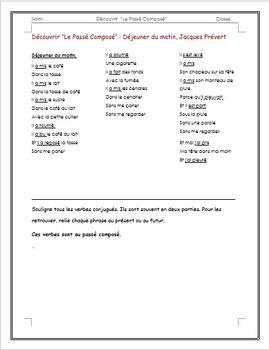 French Grammar: Passé Composé Lesson and Worksheet Packet