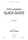 French Grammar - Quick Guide - Infinitives