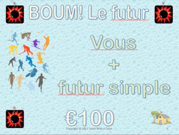 French Grammar Review Game -futur simple et immédiat- End of year / End of unit