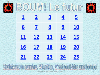 French Grammar Game -futur simple et immédiat- End /start of year or unit