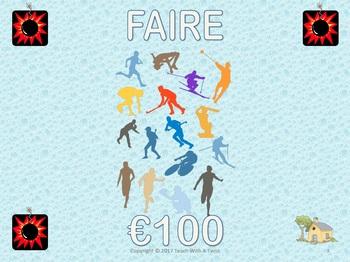 French Game-Irregular Verbs: Faire Avoir Aller Etre- End/start of year/unit