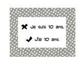 French Grammar Signs Set