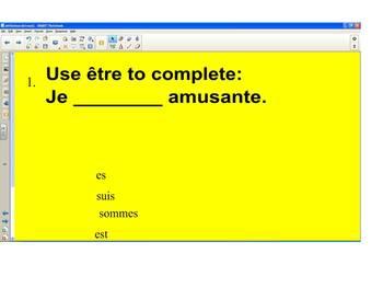 French Grammar--SmartBoard Etre Game