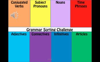 French Grammar Sorting Challenge.