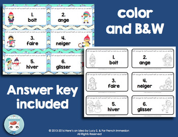 French Grammar Task Cards: un nom ou un verbe?