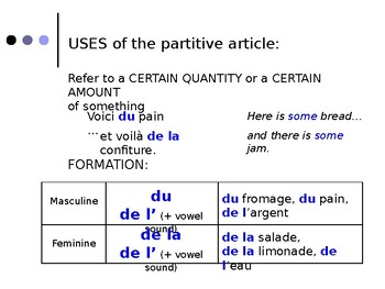French Grammar - lecon 10, DF Blanc