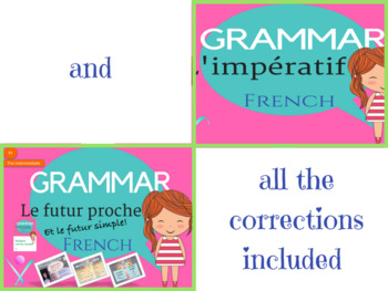 French grammar tenses bundle interactive activities and printables