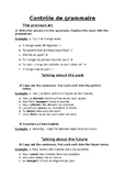 French - Grammar test (pronom 'en', past/future tenses, he