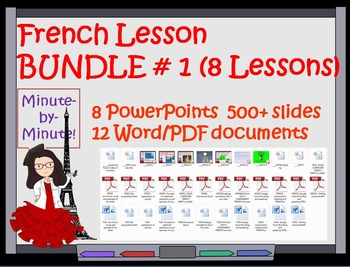 French Greetings  Lesssons  Bundle Days 1 - 8